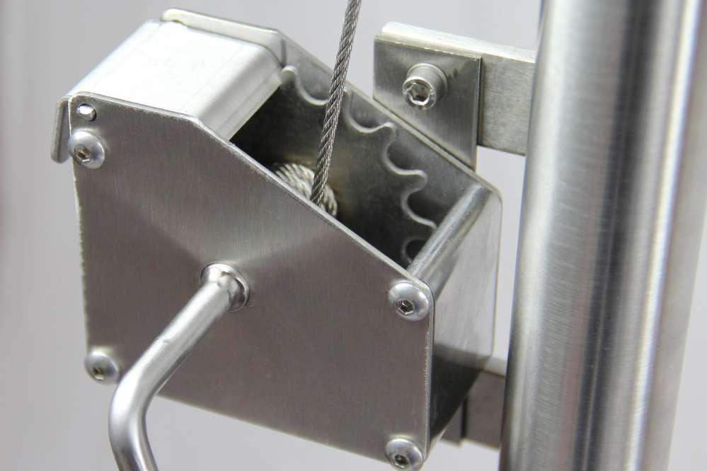 Edelstahl Kurbel 25 - Seilwinde für komfortables Grillen